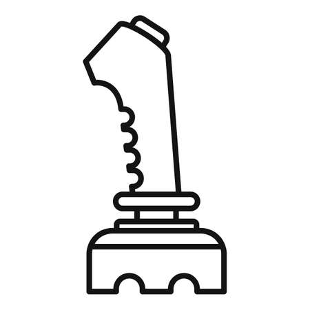 joystick icon. Outline joystick icon for web design isolated on white background Illusztráció