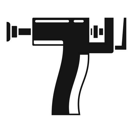 Piercing gun icon, simple style Çizim