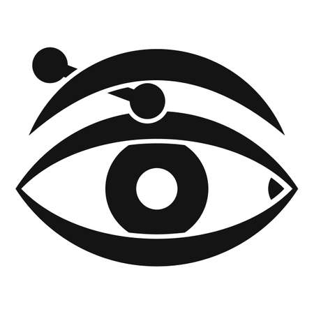 Eye piercing icon, simple style Ilustrace