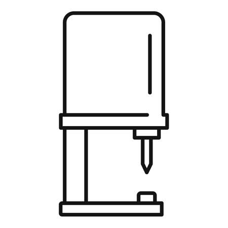 Piercing equipment icon, outline style