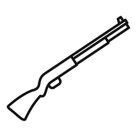 Police shotgun icon, outline style
