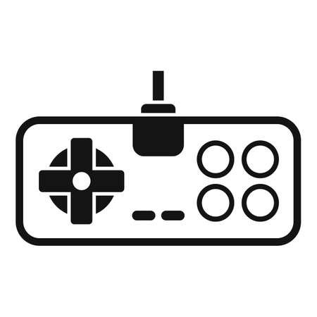 Retro game joystick icon, simple style