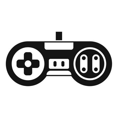 Arcade gaming joystick icon, simple style