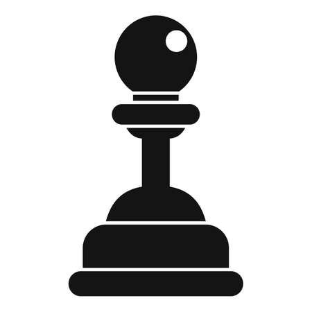 Video game pawn icon, simple style 写真素材 - 150644885