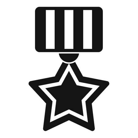 Video game gold medal icon, simple style