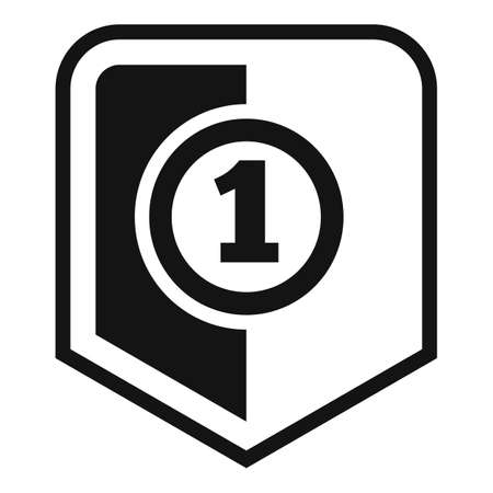 First place video game icon, simple style Ilustração