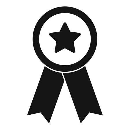 Video game emblem icon, simple style Illusztráció