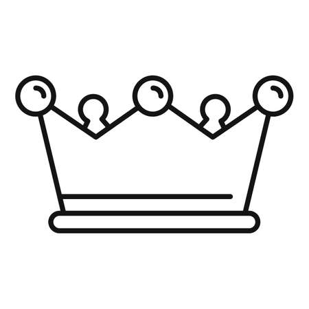 Gold game crown icon, outline style Illusztráció