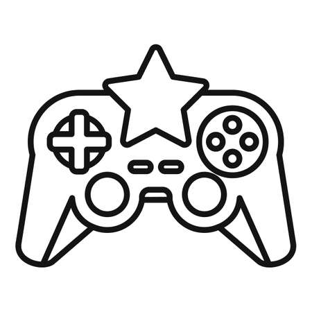 Star video game joystick icon, outline style