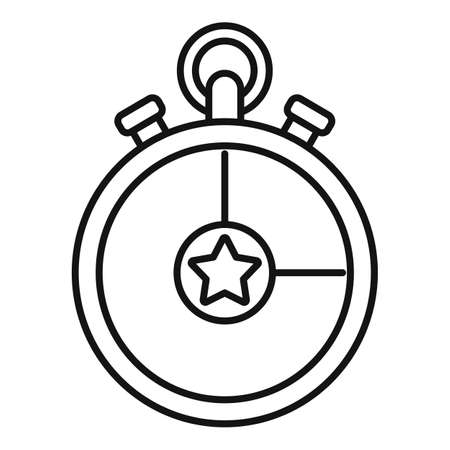 Video game stopwatch icon, outline style Illusztráció