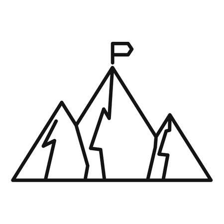 Video game target icon, outline style Illusztráció
