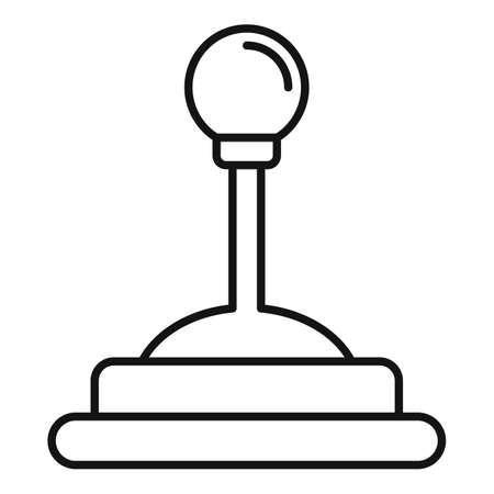 Video game joystick icon, outline style Illusztráció