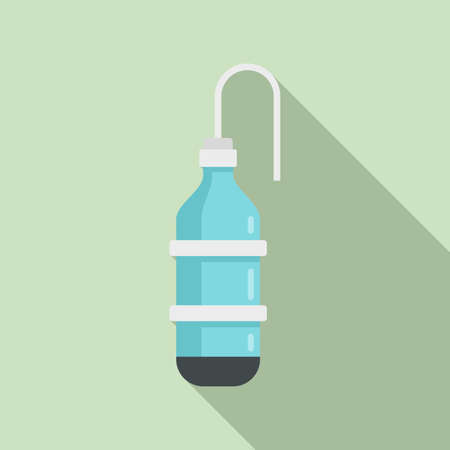 Anesthesia bottle icon, flat style Stock Illustratie