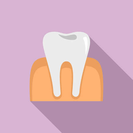 Tooth anesthesia icon, flat style