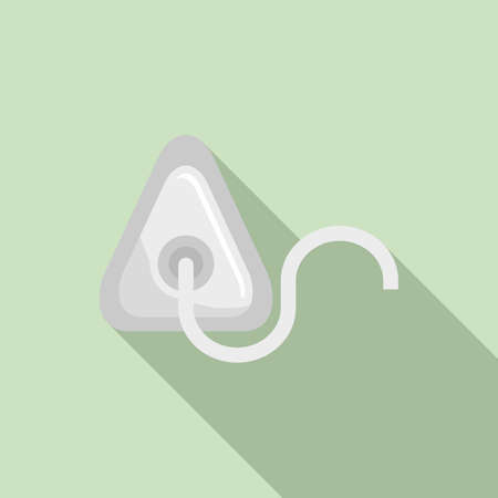 Clinic anesthesia mask icon, flat style