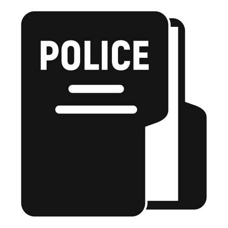 Police station folder icon, simple style