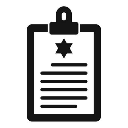 Policeman clipboard icon, simple style
