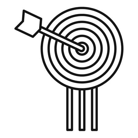 Video game arch target icon, outline style