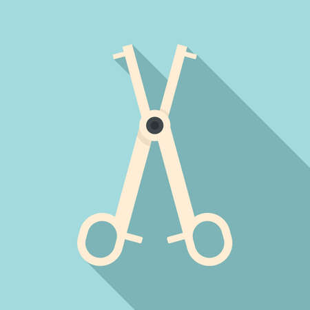 Piercing scissors icon, flat style Stock fotó - 150629209