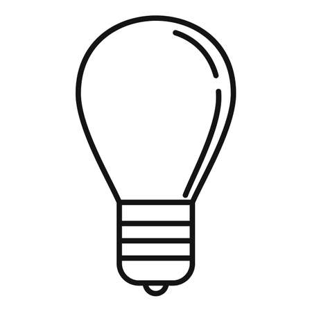 Gamification bulb idea icon, outline style