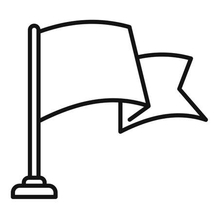 Video game flag icon, outline style