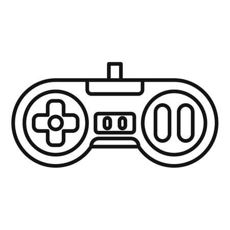 Arcade gaming joystick icon, outline style Illusztráció