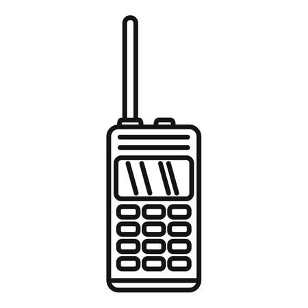 Walkie talkie icon, outline style