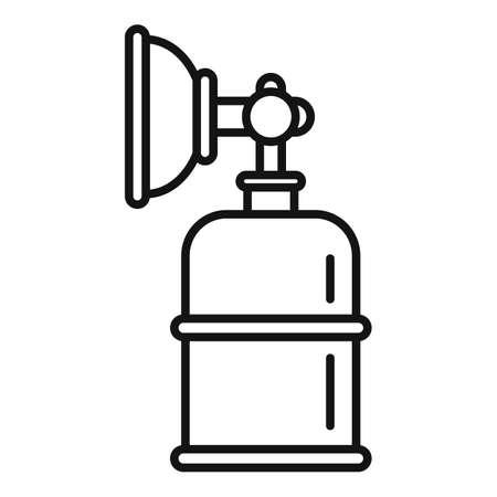 Anesthesia mask bottle icon, outline style Stock Illustratie