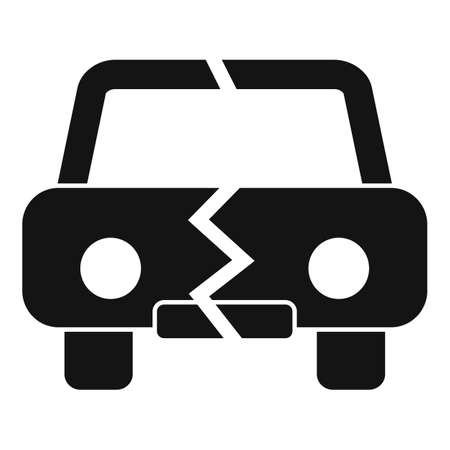Divorce car separation icon, simple style