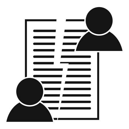 Divorce agreement icon, simple style 写真素材 - 150692685