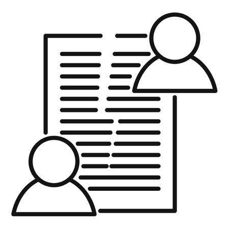 Divorce agreement icon, outline style 写真素材 - 150696375