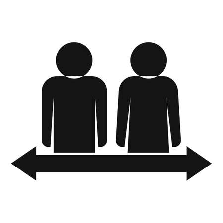 Divorce separation icon, simple style