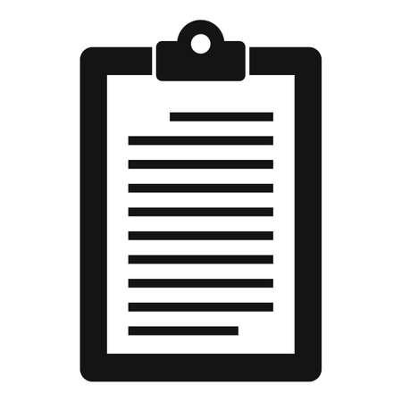 Service center clipboard icon, simple style