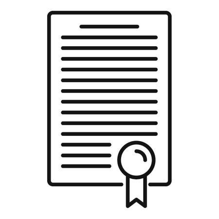 Divorce resolution document icon, outline style