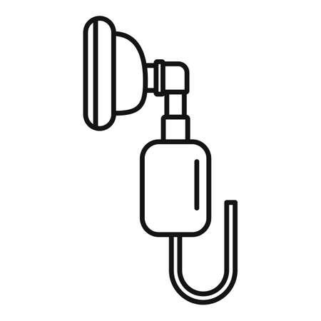 Respiratory mask anesthesia icon, outline style