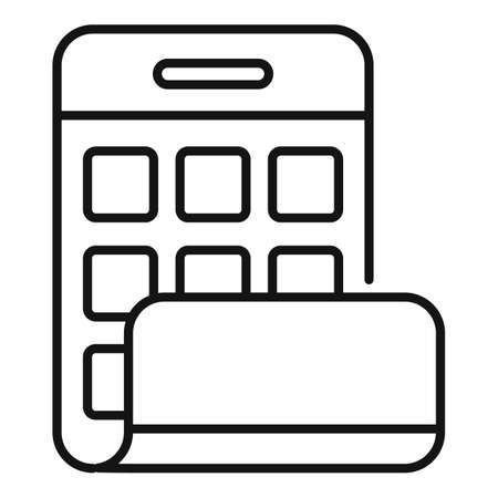 Flexible screen icon, outline style