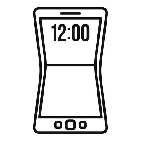 Flexible screen element icon, outline style