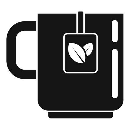 Medicinal herbs tea cup icon, simple style