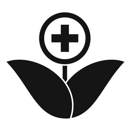 Medicinal herbs icon, simple style