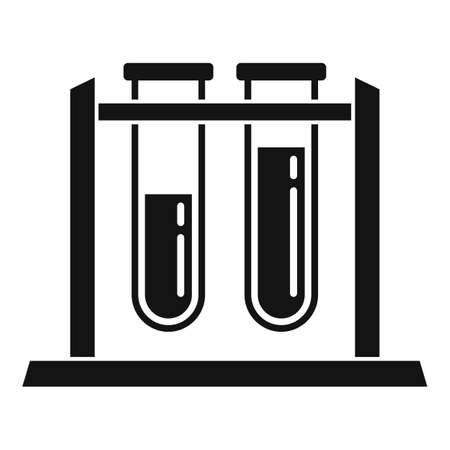 Test tube stand icon, simple style