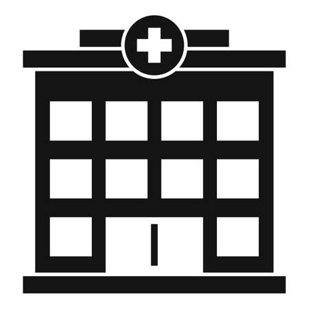 Hospital building icon, simple style