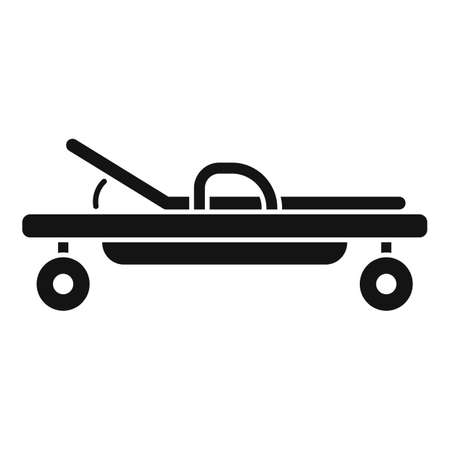 Endocrinologist cart bed icon, simple style