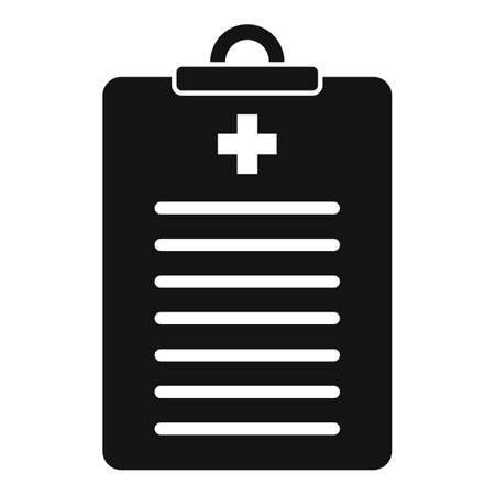 Endocrinologist patient card icon, simple style