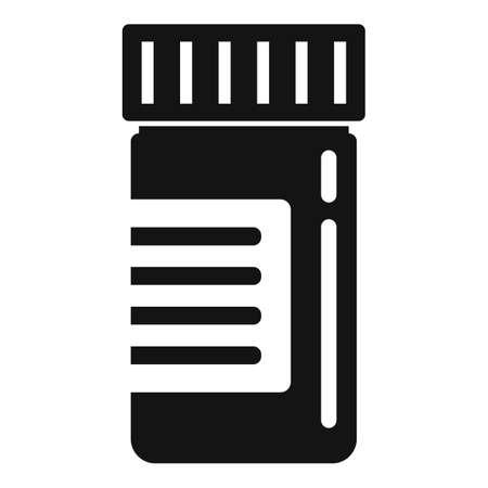 Capsule jar icon, simple style  イラスト・ベクター素材