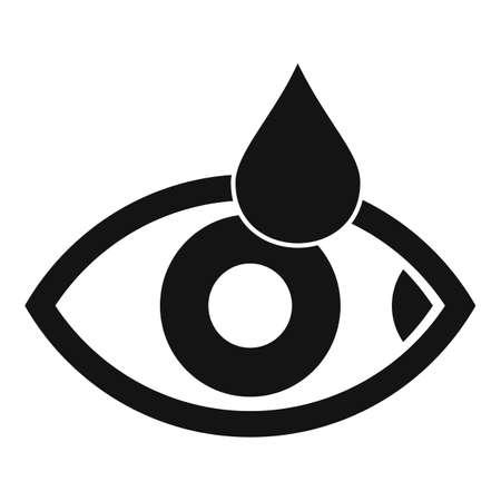 Eyedrop icon, simple style