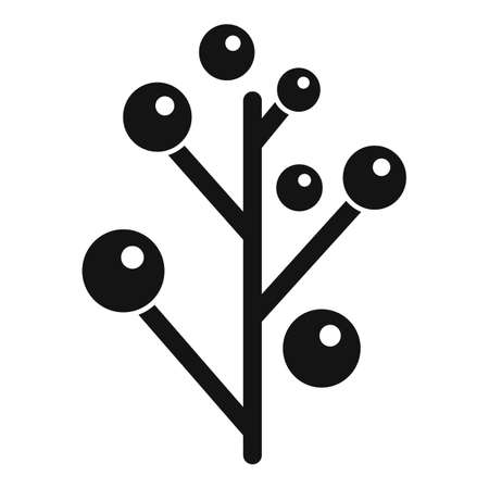 Branch plant herb icon, simple style