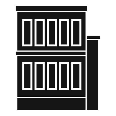 Building reconstruction icon, simple style