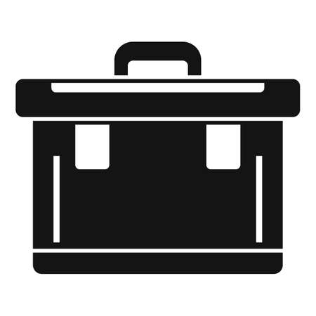 Plastic tool box icon, simple style