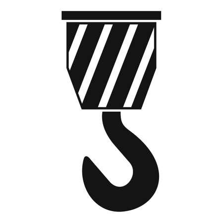 Crane hook icon, simple style