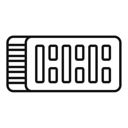 Construction brick icon, outline style